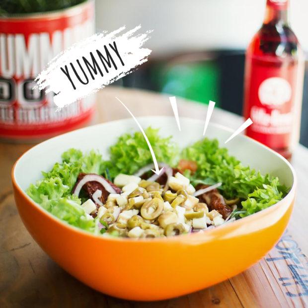 Yummy Salat in der Salatbar von Supasalad in Köln